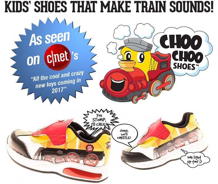 Kids  shoes that make train sounds and light up too! 901e3960a912