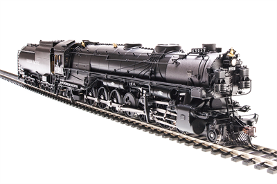 Image of item 4992 UP-5, 4-12-2, #9513, modernized, standard cab, 18,000 gallon tender, black & graphite, aluminum lettering, Paragon3 Sound/DC/DCC, Smoke, HO