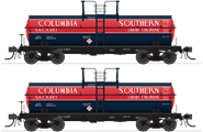 Image of item 6460 6000 Gallon Tank, Columbia Southern, Dark Blue & Red, 2-pack, HO (SACX #683, SACX #688)
