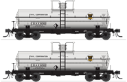 Image of item 6462 6000 Gallon Tank, Ethyl Corporation, Gray w/ Black & Yellow Logo, 2-pack, HO (EBAX #6062, EBAX #6073)
