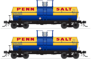 Image of item 6466 6000 Gallon Tank, Penn Salt, Blue & Yellow, 2-pack, HO (TELX #231, TELX #234)