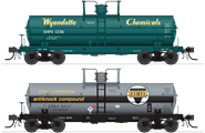 Image of item 6476 6000 Gallon Tank, Variety Set G, 1960's and later, 2-pack, HO (Wyandotte #1336, Ethyl Corp #6038)