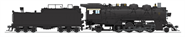 Image of item 4769 ATSF 4000 Class 2-8-2, Unlettered, w/ switching pilot and large rear headlight, Oil Tender, Paragon4 Sound/DC/DCC, HO