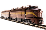Image of item 5764 PRR Sharknose, BF-16 A/B Set, #2004A/2004B, Tuscan Red, 5-Stripe, A-unit Paragon3 Sound/DC/DCC, Unpowered B-unit, HO (NP)