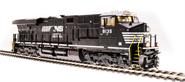 Image of item 5872 GE ES44AC, NS 8123, Black & White, Paragon3 Sound/DC/DCC, Smoke, HO