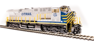 Image of item 5865 GE ES44AC, CREX 1214, Gray, Blue & Yellow, Paragon3 Sound/DC/DCC, Smoke, HO