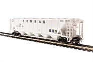 Image of item 1887 H32 Covered Hopper, Conrail, Gray with Black Lettering, 4-pack, HO