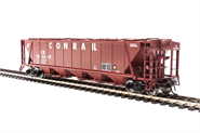 Image of item 1886 H32 Covered Hopper, Conrail, Red with White Lettering, 4-pack, HO