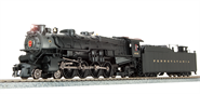 Image of item 4080 PRR M1b 4-8-2, #6733, Post 1946, Paragon3 Sound/DC/DCC, HO