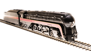 Image of item 4875 N&W Class J, #613, In-Service Version, Paragon3 Sound/DC/DCC, Smoke, HO