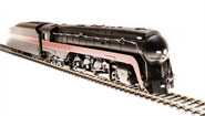 Image of item 4877 N&W Class J, Unlettered, In-Service Version, Round Tender Deck, Paragon3 Sound/DC/DCC, Smoke, HO
