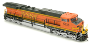 Image of item 4004 GE AC6000, BNSF #5838, Heritage II scheme, High Ditch Lt., Paragon2 Sound/DC/DCC, w/ Smoke, HO (replacement for BLI-2129)
