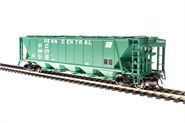 Image of item 1888 H32 Covered Hopper, Penn Central, Green with White Lettering, 4-pack, HO