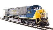 Image of item 4008 GE AC6000, CSX #625, Blue/Gray/Yellow, Paragon2 Sound/DC/DCC, w/ Smoke, HO
