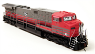 Image of item 4014 GE AC6000, GECX #6001, Red & Gray Scheme, Paragon2 Sound/DC/DCC, w/ Smoke, HO
