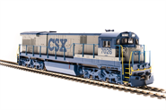 Image of item 4408 GE C30-7, CSX #7026, Gray & Blue, Paragon3 Sound/DC/DCC, HO
