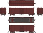 Image of item 1754 NYC Steel Box Car, 4-pack: Unlettered/Unnumbered (with 7/8 corrugated ends), HO