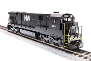 Image of item 2452 GE C30-7, N&W #8017, Black with White, Paragon2 Sound/DC/DCC, HO
