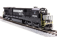 Image of item 2450 GE C30-7, NS #8038, Black with White, Paragon2 Sound/DC/DCC, HO