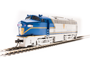 Image of item 5761 D&H Sharknose, RF-16A, #1216, Blue Warbonnet, Paragon3 Sound/DC/DCC, HO