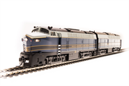 Image of item 5754 B&O Sharknose, RF-16 A/B set, #859A/859X, Blue/Gray/Gold, A-unit Paragon3 Sound/DC/DCC, Unpowered B-unit, HO