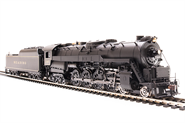 Image of item 2077 Reading T1 4-8-4, In Service Version #2114, Black w/ Yellow, Paragon2 Sound/DC/DCC, HO