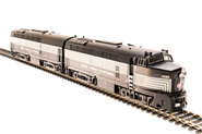 Image of item 5757 NYC Sharknose A/B Set, #3805/#3705, Lightning Stripes, A-unit Paragon3 Sound/DC/DCC, Unpowered B-unit, HO