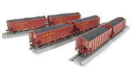 Image of item 5631 3-Bay Hopper, UP, Red with Yellow Lettering, 6-pack, HO